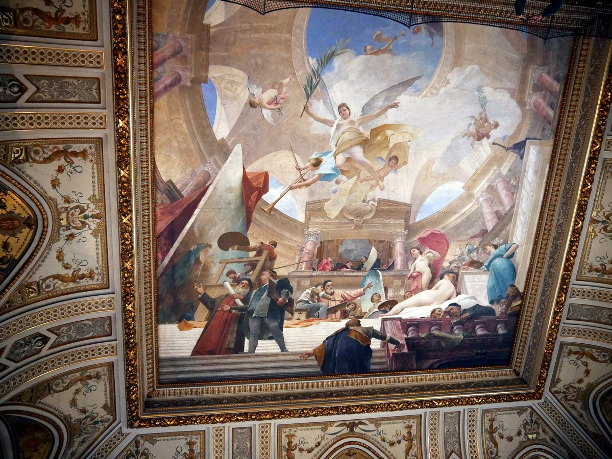 APOTHEOSIS CEILING PAINTING VIENNA AUSTRIA PAINTING ART REAL CANVAS PRINT